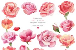 Watercolor Summer Flowers Clipart Product Image 6