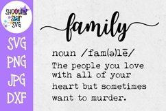 Family Definition SVG - Funny Family Definition - Home Decor Product Image 1