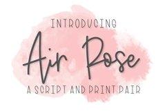 Air Rose - A Script & Print Font Duo Pair Product Image 1