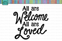 Welcome Sign SVG File, Pride Saying SVG, Commercial Use SVG Product Image 1