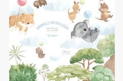 Australian animals clipart. Watercolor koala, kangaroo, etc. Product Image 1