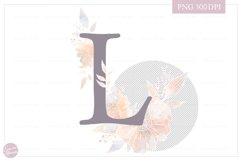 MONOGRAM Letter L Elegant Floral Monogram - Flower alphabet Product Image 2