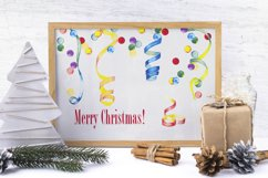 Christmas clipart 80's Watercolor individual elements PNG Product Image 5