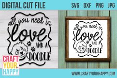 All You Need Is Love And A Doodle - A Dog Cut File Product Image 2