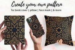 Luxury Mandala Pattern Tiles | Golden arabesque background Product Image 3