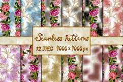 Collection of seamless flower backgrounds Product Image 1