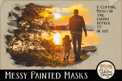 Clipping Masks - Messy Painted Photo Masks & Tutorial Product Image 3