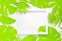 Paper art summer mockup. Product Image 1