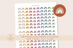 Rainbow Icon printable Stickers Product Image 1