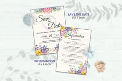 Wedding Invitation Set #1 Watercolor Floral Flower Style Product Image 3