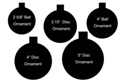 Floating Ornament Inserts Plus 32 Holiday Designs SVGs Product Image 2