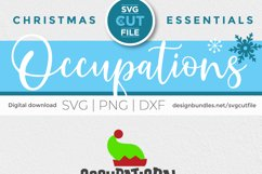 Christmas Occupational Therapy svg, Elf Squad hat & shoes OT Product Image 6