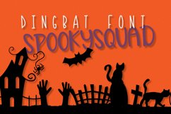 Spooky Squad - A Halloween Dingbat Font Product Image 1