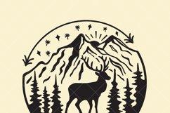 Elk mountain svg file, outdoor t-shirt design svg Product Image 2
