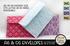 A6 & C6 Envelope SVG - Envelope Cutting File Template Product Image 3