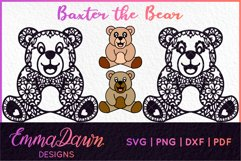 BAXTER THE BEAR SVG MANDALA / ZENTANGLE DESIGN Product Image 1