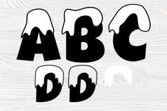 Snow Font SVG, Winter Svg, Christmas Alphabet Clipart Product Image 3
