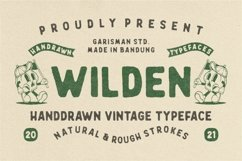 Wilden - Handdrawn Vintage Typeface Product Image 1