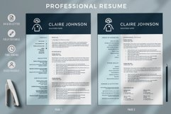 RN Nurse Resume template. Modern Resume format for Nurses Product Image 2