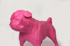 Pug Dog Papercraft, Paper Pug, Dog Statue, Puppy Pug, Paper Animals, Papertoy, Home Decor, Pug Dog, 3D papercraft model, lowpoly DIY, hobby Product Image 2