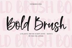 Bold Brush Font  Bonus Font Product Image 1