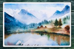 Winter Landscapes set#2. Watercolor. Product Image 5