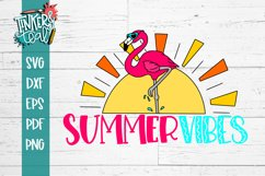 Summer Vibes Flamingo SVG Product Image 5
