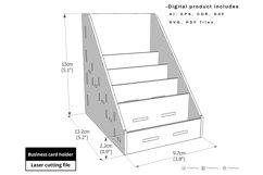 Business Card Holder - laser cut file Product Image 3