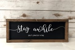 Stay Awhile - Funny Wood Sign SVG Product Image 1