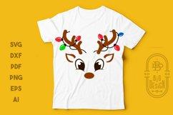 Christmas SVG - Cute Reindeers SVG Chris Bundle Product Image 5