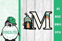 Gnome letters 3D multi layer mandala layered alphabet bundle Product Image 6