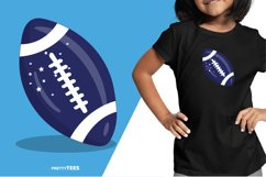 American Football Blue Ball T-Shirt Design | Sublimation Product Image 5