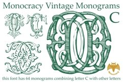 Monocracy Vintage Monograms Pack ABCD Product Image 6