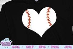 Baseball Heart SVG   Baseball SVG   Sports SVG Product Image 1