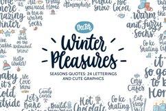 Winter Pleasures vector quote Product Image 1