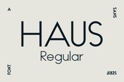 HAUS Sans Regular Product Image 1