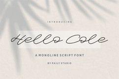 Hello Cole Monoline Script Font Product Image 1