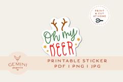 Christmas Sticker   Printable Christmas Sticker Print Cut Product Image 1