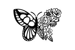 Papercut Beautiful Butterfly Floral Arrangement Product Image 2