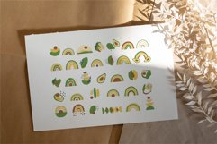 Avocados and Rainbows Set, Clipart, Patterns, Alphabet. Product Image 3