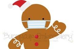 Face Mask Gingerbread Man SVG | Christmas SVG Product Image 2