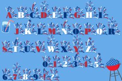 Fireworks - 4th of July Font & Bonus Star Studded Font Product Image 4