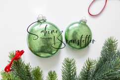 Styled Stock Photo Two Green Disk Ornaments Christmas Mockup Product Image 1