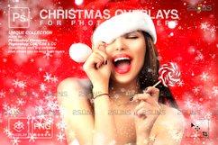 Christmas overlay & Glitter overlays, Photoshop overlay Product Image 1