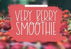 Very Berry Smoothie - Tall and Thin Font Product Image 1