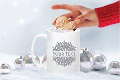 Snowflake SVG | Split Monogram SVG Product Image 3