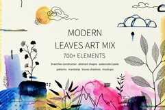 Modern graphic elements. Art leaves Product Image 1
