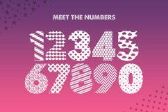 Pattern Silhouette Font Product Image 5