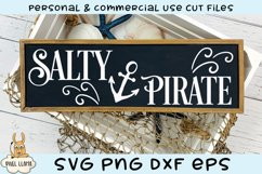 Beautiful Mermaid Salty Pirate Sign Bundle SVG Cut File Product Image 3