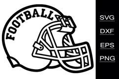Football Helmet SVG cutting files Product Image 1